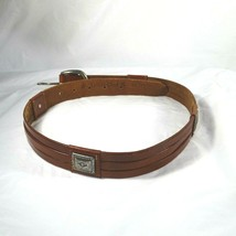"""Fossil Leather Belt Brown Vintage Western Rodeo Women Size Medium 1.25"""" ... - £19.18 GBP"""