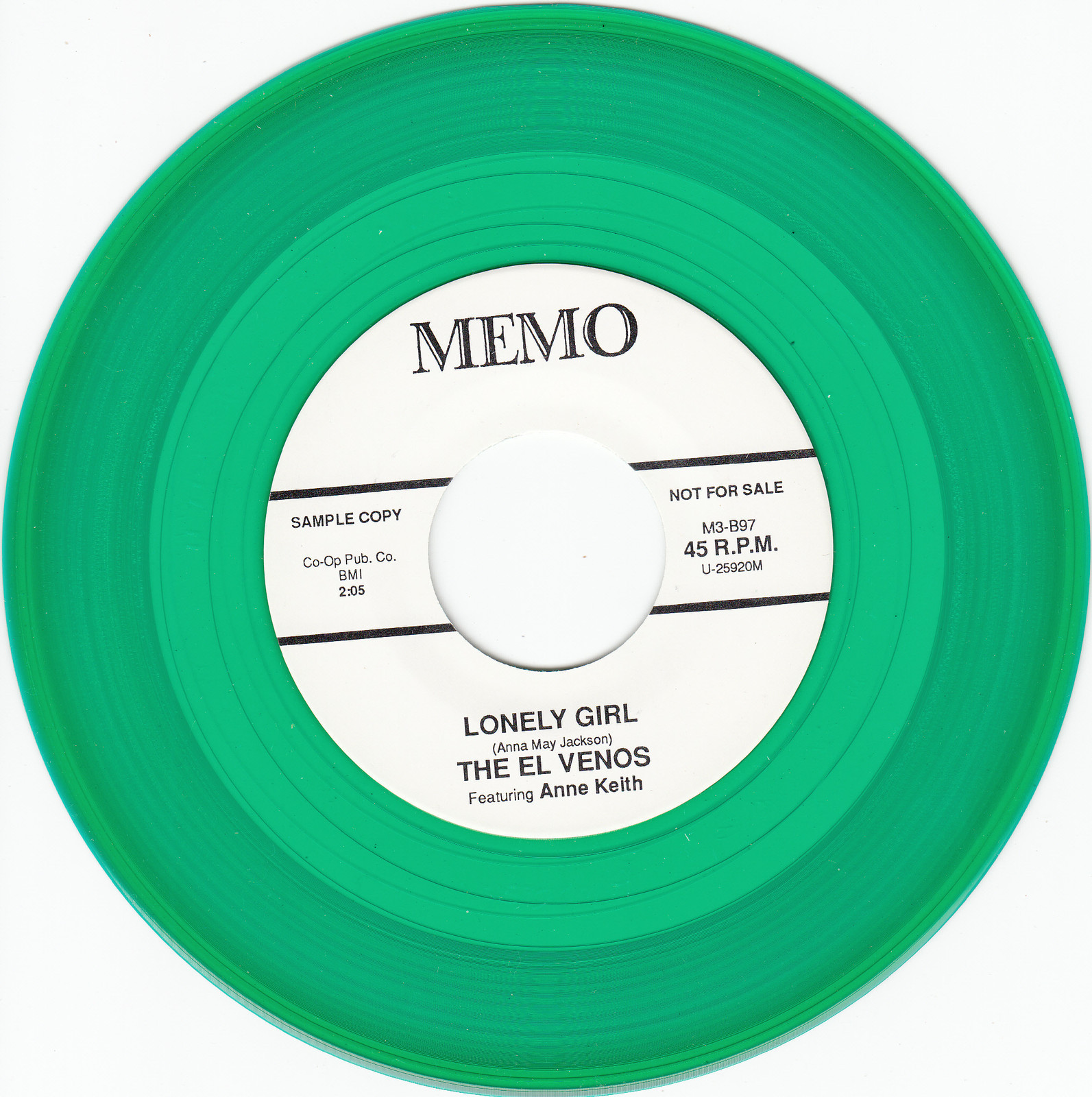 Primary image for El Venos ~ Lonely Girl*Mint-45*RARE GREEN WAX !
