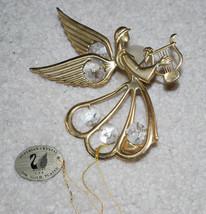 Austrian Crystal 24K Gold Plated Angel Christmas Ornament Window Decor 4... - $14.80