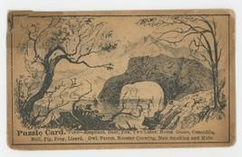 Arnold Luetgert Elgin IL Victorian puzzle trade card oysters antique adv... - $6.50