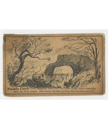Arnold Luetgert Elgin IL Victorian puzzle trade card oysters antique adv... - $6.50