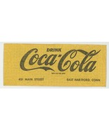 Coca Cola Coke advertising ticket for 1963 Shrine Circus Hardford Connec... - $6.00