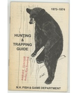 1973 1974 New Hampshire Fish Game Hunting Trapping Guide book vintage sp... - $8.00