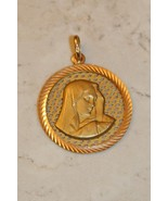 18K Solid Yellow Gold Madonna Pendant Made in Italy - $1,250.00