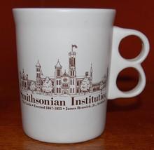 Smithsonian Institution Coffee Mug Cup Trigger Handle Bennington Pottery 10 oz - $20.00