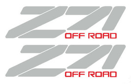 "Z71 OFF ROAD DECAL - CHEVY TRUCK STICKER silver 2-PACK SZ: 3.5"" X 13"" - $16.00"
