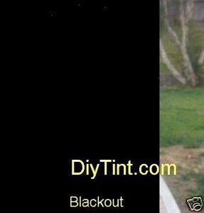 Black out glass window tinting film BlackOut Tint 37X60