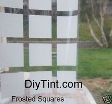 "FROSTED SQUARES decorative window film Tint 37X60"" deco - $28.04"