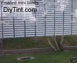 Frosted Mini Blinds light filter glass film Tint 20X60""