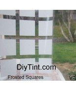 "FROSTED SQUARES partial privacy glass film 20""X60"" deco - $18.69"