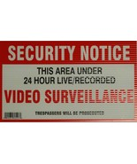 Home Monitored X10 Video Surveillance Security Warning Yard Sign notice ... - $7.69