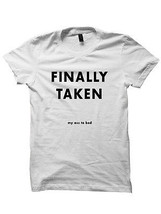 FINALLY TAKEN MY ASS TO BED T-SHIRT LADIES TOPS UNISEX FUNNY SHIRTS CHEA... - $17.82