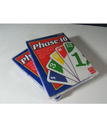 Lot of 2 - PHASE 10 (ten) - Card Game by Fundex - Rummy Style 2-6 players - $12.82