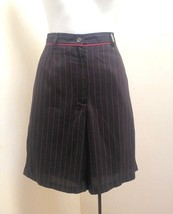 Lizgolf Shorts 10 Black Red Striped Bermuda Walking Golf Pants New Liz C... - $19.57
