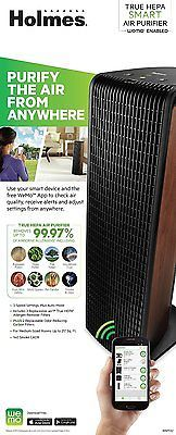 Holmes Smart Wifi Enabled WeMo True HEPA Home Filtration Air Purifier System