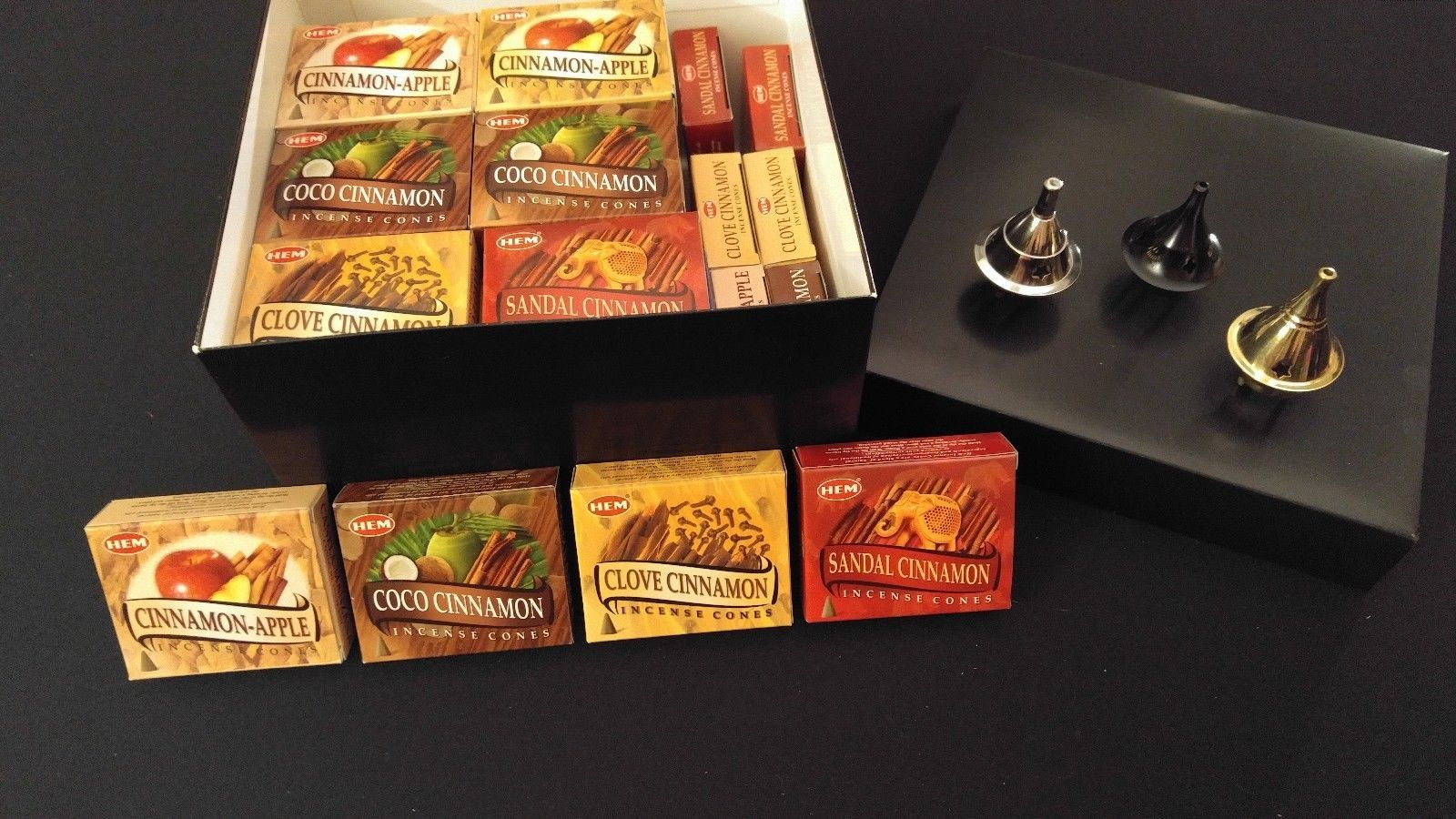 LOT OF 120 Sticks HEM COCO CINNAMON Incense  1 Box 6 TUBE OF 20 Sticks = 120