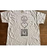 Keith Haring Graffiti pop artist Best Buddies art shirt Large NYC peace ... - $9.49