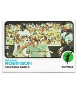 1973 Topps #175 Frank Robinson, California Angels - $2.65