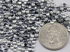 3mm Grey Gun Metal H7 Nail Art Metal Gems Round Hot fix Studs - 1000 Pieces - $6.54