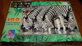Sure-Lox 100 Piece JigSaw Puzzle  *AMAZING ANIMALS - ZEBRAS*   Brand new... - $9.50