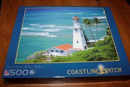 Sure-Lox   500 Piece Jigsaw Puzzle   *COASTLINE WATCH*  Light House   SE... - $14.84