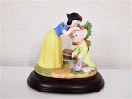 Rare! 2001Disney Princess Snow White & Dopy 2001Limited Pottery Figure katokogei - $266.31