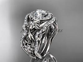 14kt white gold diamond unique engagement set, wedding set, ADLR300S - $3,175.00