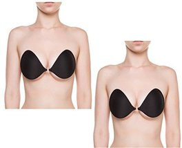 The NuBra Feather-Lite Super Light Adhesive Bra #F700 (D, Black 2-Pack) - $64.00