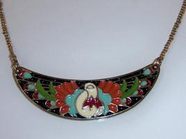 Peacock Necklace. Enamel Peacock Bird Necklace. - $10.00