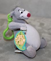 Disney Clip 'n Go Pals Baloo From Jungle Book Plush Doll Stuffed Animal Toy - $7.45