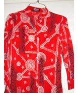 Softwear Petites Mark Singer  Red White & Black Botton Down Blouese (Siz... - $8.00