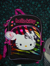 """Hello Kitty Large Backpack Bag 16"""" Two Side pockets Licensed by Sanrio - $15.00"""