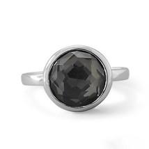 Women's Sterling Silver 925 Round Shape Freeform Faceted Quartz Hematite... - $112.43 CAD