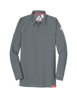 BULWARK iQ FIRE RESISTANT LONG SLEEVE GRAY POLO PERSONALIZED - $162.00