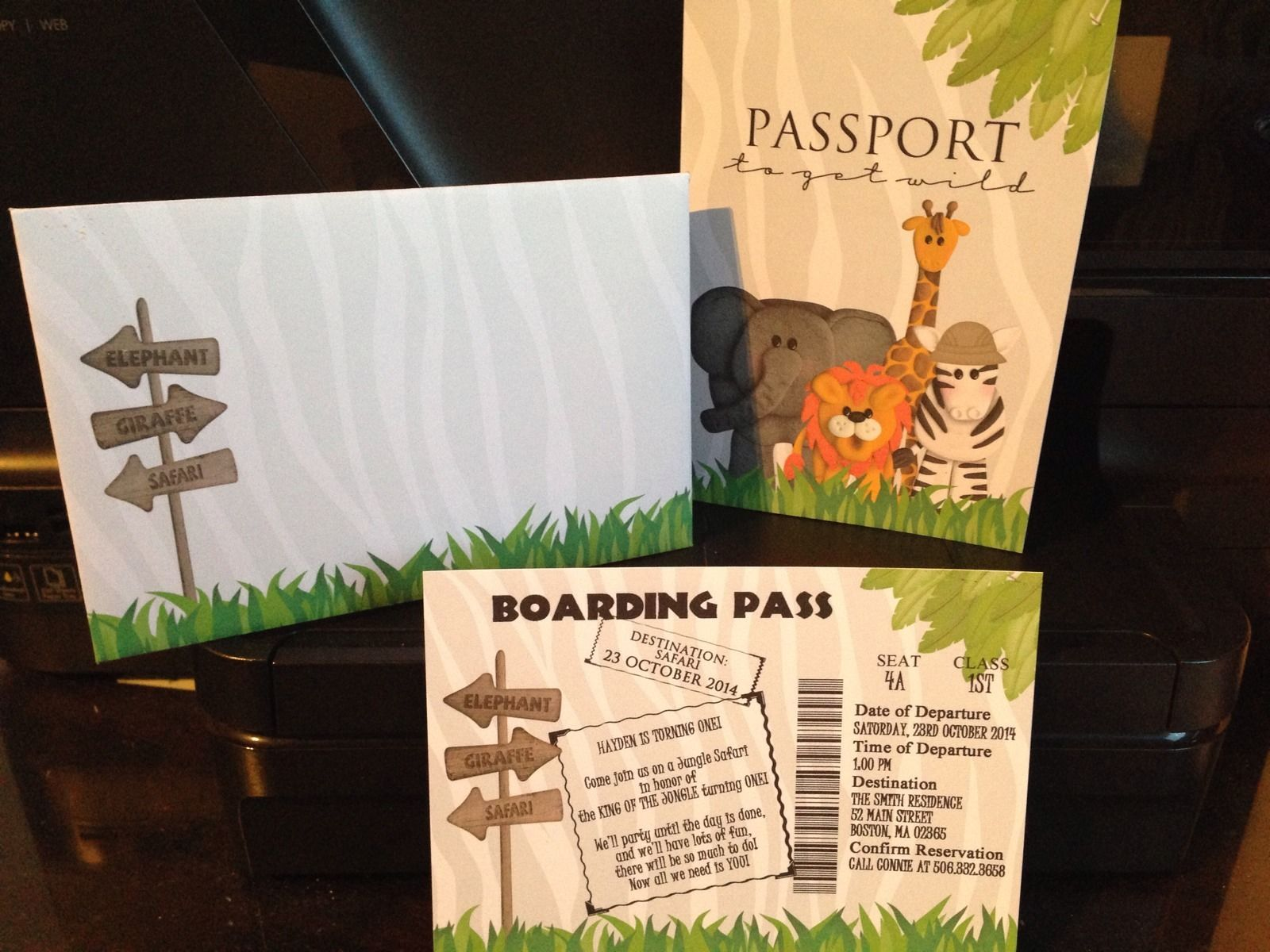 Jungle safari passport boarding pass and 50 similar items 57 filmwisefo