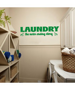 """Laundry Room the Never Ending Story Vinyl Wall Quote Sticker Decal 42""""w ... - $29.99"""