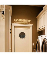 """Laundry Room the Never Ending Story Vinyl Wall Quote Sticker Decal 60""""w ... - $45.00"""