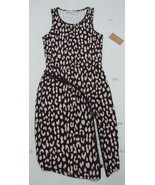 Rachel Roy Dress XS At Ease Animal Print Curved Zipper Slimming Slip On ... - $65.95