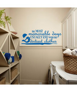 """Dirtiest Clothes Laundry Room Vinyl Wall Quote Sticker Decal 57""""w x 22""""h - $45.00"""