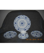 6-5 PC COUNTRY CLASSIC ECHT COBALT NO 1 CHRISTINEHOLM PORCELAINE MADE IN... - $476.98