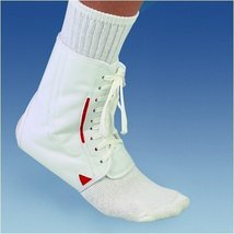 Mueller BI-LATERAL ANKLE BRACE, WHIITE - LG image 1