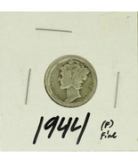1944 United States Mercury Dime 90% Silver Rating: (F) Fine  - £1.14 GBP