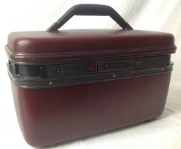 Vintage Samsonite System 4 Train Case Makeup Cosmetic Suitcase w Mirror ... - $24.95