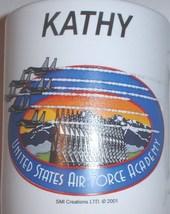 """ceramic coffee mug: USAF US Air Force """"Kathy-USAF Academy"""" - $15.00"""
