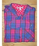 VICTORIA'S SECRET Dreamer Red Plaid Flannel Pagama Small S Long NEW Slee... - $44.52