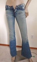 New Urban Outfitters Piper Low Rise Flare  Denim Jeans Sz 1 Light Wash Blue - $19.75