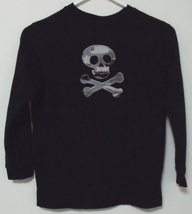 Boys Halloween Black Long Sleeve T Shirt Size S 6 or 7 - $5.95