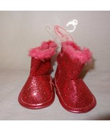 Boots Pink Glitter Boots Shoes Sparkle Size 3 - 6 Months Baby Girls Risi... - $8.89