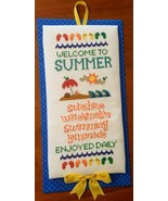 Welcome To Summer cross stitch chart Cherry Hill Stitchery - $7.20