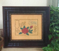 June Floral Postcard cross stitch chart From The Heart  - $5.00